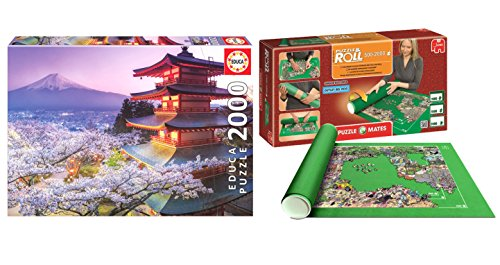 Pack Puzzle Educa 16775. Monte Fuji. Japon. 2000 piezas + Tapete Puzzle Roll 2000 piezas