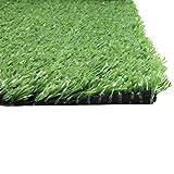 Wohaga Rasenteppich 3x1m Grün Kunststoffrasen Teppich für Garten Terrasse Balkon Wintergarten Camping