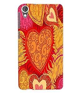 Fuson 3D Printed Pattern Designer Back Case Cover for HTC Desire 820 - D1086