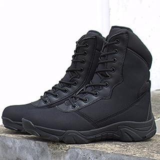 RDJM Hommes lacets moto Boot High Leg Desert bottes de chasse chaussures de randonnée chaussures Casual chaussures Mountaineer chaussures , 41