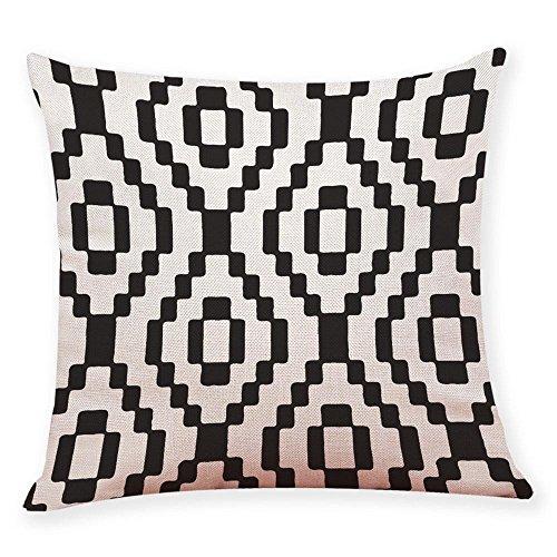 Doublehero 45 X 45 Cm Kissenbezug,Schwarz Und Weiß Geometrie Werfen  Dekokissen Fall Kissenbezug Sofa Home Decor Kissen Zierkissenbezüge (F)