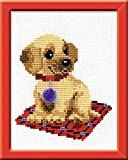 Happy Bee HB067 Kit per ricamo a punto croce, motivo: cagnolino, multicolore