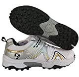 SG Rubber Cricket Spikes Cricket Shoes with Dual Closure, Laces and Strap