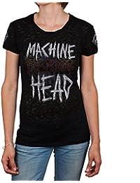 Machine Head - Machine Effin Head Burnout Juniors T-Shirt