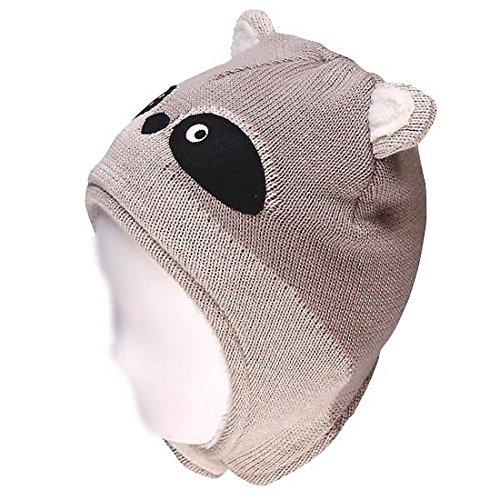 Daniel Boone Kostüm - Boboli Nature Baby Mütze Waschbär-46 -