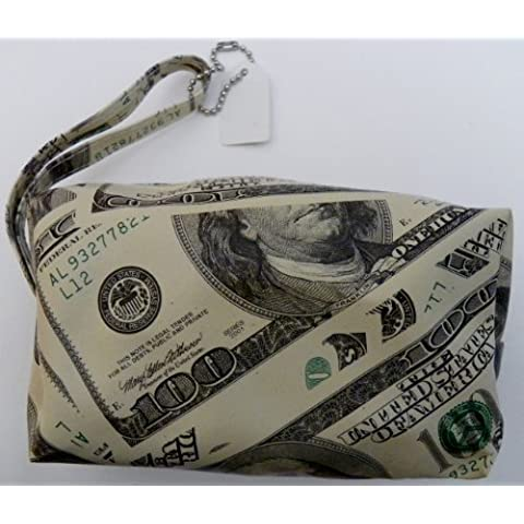 100 Dollar Bill Small Zippered Bag With Wrist Strap - by Generic
