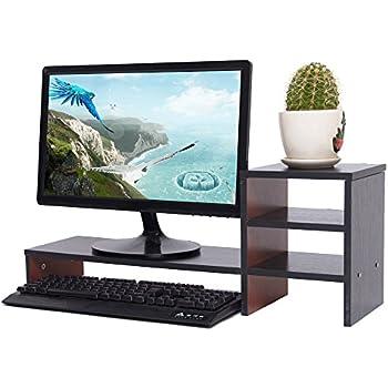 azlife holz monitor st nder diy verbindung computer zubeh r. Black Bedroom Furniture Sets. Home Design Ideas