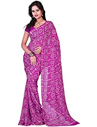 Aaradhya Fashion Women'sCrepe Saree With Blouse Piece (AFMOSS-0172_Purple)