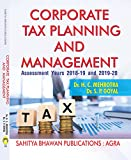 Corporate Tax Planning & Management (A.Y. 2018-19 & 2019-20) M.B.A C.A C.S ICWA & M.Com - Sahitya Bhawan Publications