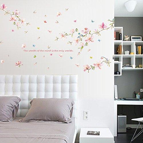 Yallylunn DIY Plant Removable Wall Decal Family Home Sticker Mural Art Home DéCor Passen Perfekt Ohne Verformung Ohne SchäDlichen Formaldehyd