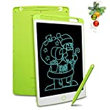 Richgv LCD Writing Tablet mit Anti-Clearance Funktion und Stift, Digital Ewriter Grafiktabletts Mini Schreibtafel Papierlos Notepad Doodle Board (10 Zoll, Grün)