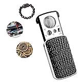 Lupa de joyería pequeña con luz LED – 30 x 60 x 90 x lupa de bolsillo con UV – mejor para joyas, diamantes, gemas, monedas, sellos, calcetines