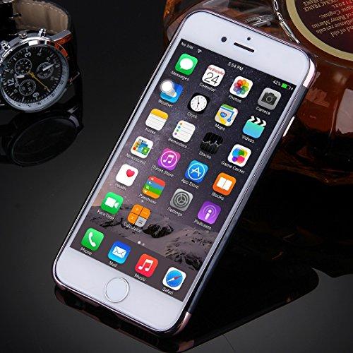 IPhone 6 u. 6s Fall Spiegel TPU schützender Abdeckungs-Fall für iPhone 6 u. 6s by diebelleu ( Color : Silver ) Rose gold