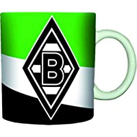 Unbekannt VFL Borussia Mönchengladbach 16984 Fohlenelf-Artikel - Tasse Schrägstreifen - Fassungsvermögen: 0, 30 L, Kaffee-/Teetasse, mehrfarbig, 10 x 7 x 9 cm,
