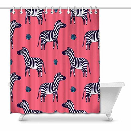 Interestprint - tenda da doccia in poliestere, motivo pavone, 182,9 x 182,9 cm, colore: bianco e nero 66 x 72 inches multi 2