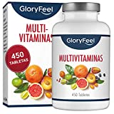 GloryFeel® Multivitaminas 450 Pastillas Veganas - Vitaminas y Minerales - Complejo Multivitaminico para Hombres y Mujeres
