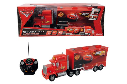 Cars - Camión RC Ice Racing Mack, teledirigido, color rojo (Mattel 30
