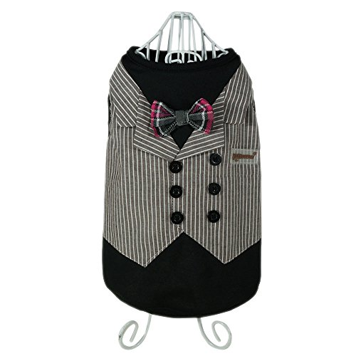 edo Suit Pet Costume Formal Dress Clothes with Bow Tie, Small by Pawow ()