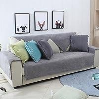 Toalla de sofá impermeable,La lavadora Simple moderno Fundas sofá antideslizante Cubierta del sofá de color sólido Vinilo de sofá universal de cuatro estaciones Protector de los muebles para perro de animal doméstico y los niños los niños-A 90x90cm(35x35inch)