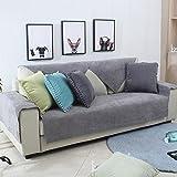 DW&HX Sofa abdeckung wasserdicht Für haustier hund Anti-rutsch Water resistant Sofa Überwurf Sofa throw Schnitt Multi-size-grau 110x240cm(43x94inch)