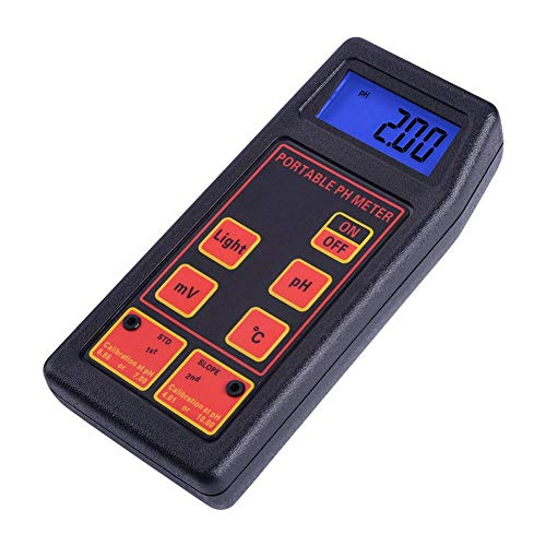 Huanyu 3 en 1 ORP PH Tester de temperatura impermeable ATC calidad de agua analizador con electrodos reemplazables PH/ORP sonda de temperatura para acuario laboratorio piscina hidroponía hogar