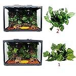 MagiDeal Reptile Vivarium Decoration Aquarium Ornament Artificial Grapes Ivy Vines 51tbBX6KRXL