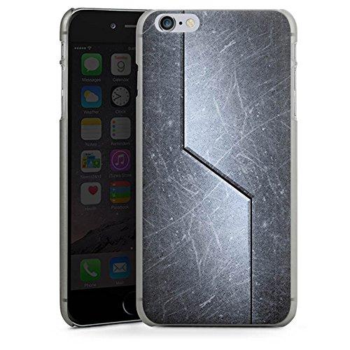 Apple iPhone X Silikon Hülle Case Schutzhülle Stahl Metall Look Muster Hard Case anthrazit-klar