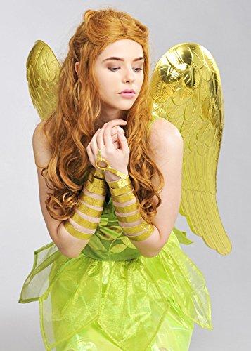 Große Metallic Gold Engel (Flügel Engel Kostüm Gold)