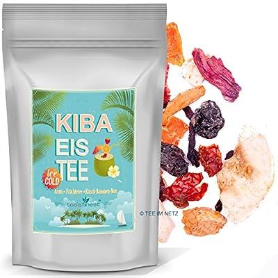 Eistee KIBA - Kirsch Banane Geschmack - Früchtetee (100 Gramm)