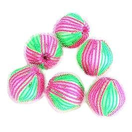 TREESTAR Washing Ball Laundry Ball depilazione Ball nylon Ball per vestiti lavaggio forniture 6pcs (colore casuale)