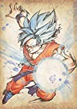 "Poster Dragon Ball ""Wanted"" Goku SSB - A3 (42x30 cm)"