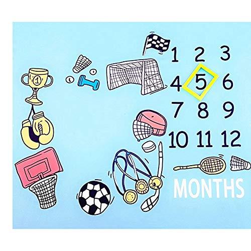 WESEEDOO Baby Fotoshooting Hintergrund Personalisierte Monats Fotografie Requisiten Babydecke -