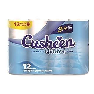 Vinsani 60 Cusheen Quilted Luxury White 3 Ply Hygiene Toilet Tissue Paper Rolls