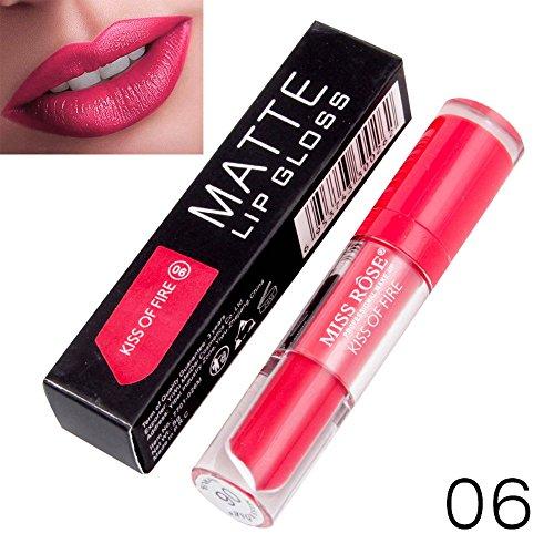 Yazidan Miss Rose Flüssigkeit Lippenstift Feuchtigkeitscreme SAMT Lippenstift Kosmetik Schönheit Bilden Wasserdicht Vampir-Stil Glanz Glänzend Mode Lange andauernd Feuchtigkeitsspendend (#6)