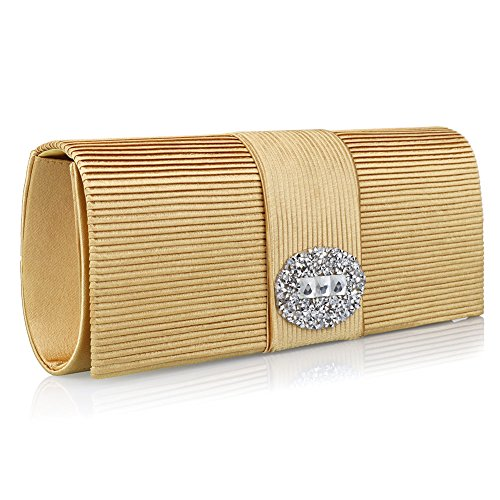 HT Evening Bag, Poschette giorno donna Gold