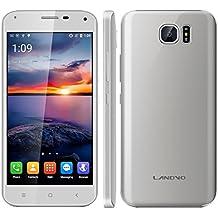 "Landvo S7 - Smartphone libre Android (Pantalla 5.0"", 16GB ROM, 1GB RAM, Quad-Core 1.3GHz, Camara 5.0 Mp, Dual SIM, GPS, WIFI), Plateado"