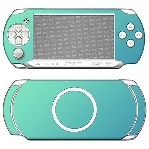 atFoliX Skin compatible con Sony PSP-E1000 / E1004, Sticker Pegatina (FX-Variochrome-Lapis-Blue), Juego de colores iridiscente multicolor