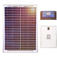 Dokio Panel Solar de policristalino para Batería DE 12 V ...