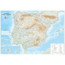 Mapa Mural Fisico España Y Portugal (tubo) (98x70)