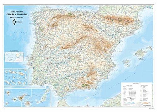 Mapa Mural Fisico España Y Portugal (tubo) (98x70) por Aa.Vv.