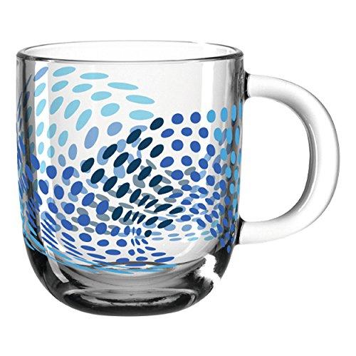 Leonardo - GK/Tasse - Glas - blau - Illusione - Spülmaschinengeeignet - Mikrowellenfest - Hitzebeständig - B/H/T: 125/100/87mm- 400ml