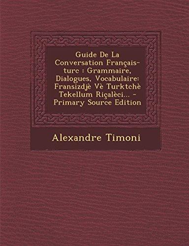 Gratuit Guide De La Conversation Francais Turc Grammaire