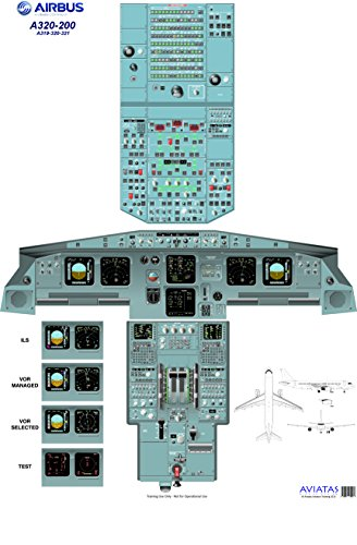 Airbus A320-200 Cockpit Poster - Digital download
