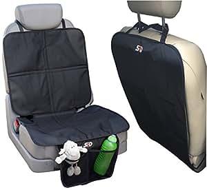 spd child car seat protector mat and kick mat baby car seat protector mats with pockets car. Black Bedroom Furniture Sets. Home Design Ideas