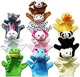 Morning May Marionette a Mano Set di 10 Marionette a Forma di Animale per Bambini