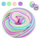EisEyen Flauschige Schleim Fluffy Slime Flauschige Schleim liefert Schleim Behälter Stressentlastung Spielzeug duftenden Schlamm Spielzeug für Kinder und Erwachsene (4 Farbe)