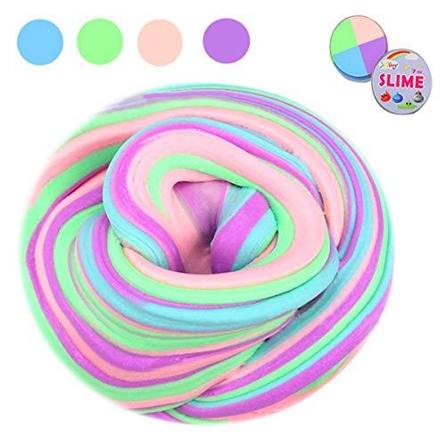EisEyen Flauschige Schleim Fluffy Slime Flauschige Schleim liefert Schleim Behälter Stressentlastung Spielzeug duftenden Schlamm Spielzeug für Kinder und Erwachsene (4 Farbe) -