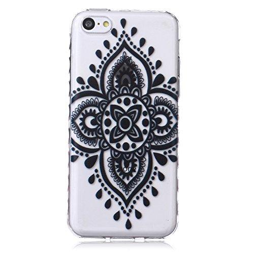 Voguecase® für Apple iPhone 5C, Schutzhülle / Case / Cover / Hülle / Ultra Slim Fit TPU Gel Skin (Kleine Gänseblümchen 05) + Gratis Universal Eingabestift Durchstochen 08/Schwarz