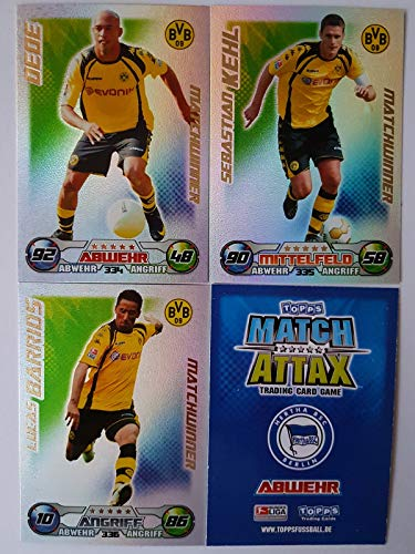 Match Attax Topps 2009 2010 - Trading Cards alle 3 Matchwinner: Dortmund - Dede, Kehl, Barrios (Topps-fußball-2010)