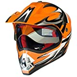 RX-962 Crosshelm Quad Cross Enduro Motocross Offroad Helm rueger, Größe:L (59-60), Farbe:Orange V/RCK